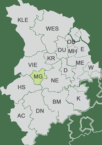 Karte Einsatzgebiet - sv-mobil KFZ Sachverständige Mönchengladbach
